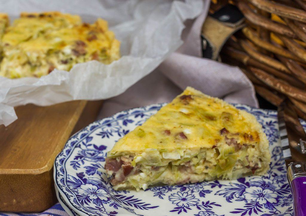 Crowdie, Leek and Bacon Tart - Wild Fig